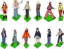 Stilisiert Frauen Stockbilder