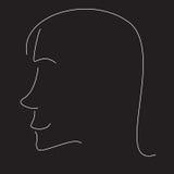 Stilisiert Frauenprofil Lizenzfreie Stockbilder