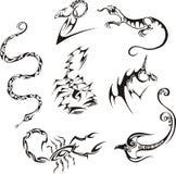 Stilisiert Geschöpfe Stockfotos