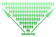 Stilisiert große Wachstum-Diagramm-Auslegung lizenzfreie abbildung