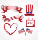 Stilisiert Hintergrund der amerikanischen Flagge Stockfotografie