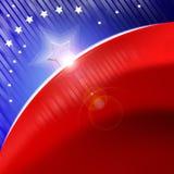Stilisiert Hintergrund der amerikanischen Flagge Lizenzfreie Stockfotos