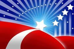 Stilisiert Hintergrund der amerikanischen Flagge Lizenzfreies Stockfoto