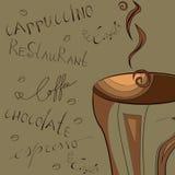 Stilisiert Hintergrund mit Kaffee Stockbild