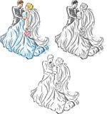 Stilisiert Hochzeitspaare Stockbilder