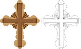 Stilisiert Kreuz lizenzfreie abbildung
