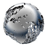 Stilisiert Metallbaumuster der Erde stock abbildung