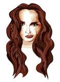 Stilisiert Portrait eines Mädchens lizenzfreie abbildung