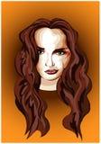 Stilisiert Portrait eines Mädchens stock abbildung