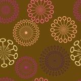 Stilisiert Retro- Blumen Stockbilder