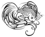 Stilisiert schöne Fische lizenzfreie abbildung