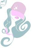Stilisiert schöne Frau Lizenzfreies Stockfoto
