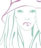 Stilisiert schöne Frau Stockbild