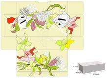 Stilisiert Schablone für Kasten Lizenzfreie Stockbilder