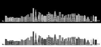Stilisiert Skyline Lizenzfreies Stockfoto