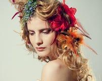 Stilisiert Sommerportrait Lizenzfreies Stockfoto