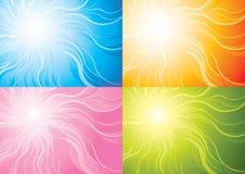 Stilisiert Sonnehintergrund Stockbilder