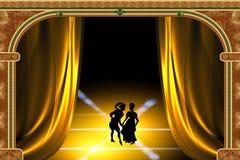Stilisiert Spiel im Theater Stockbilder