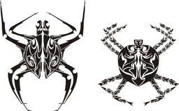 Stilisiert Spinnen Lizenzfreie Stockfotos