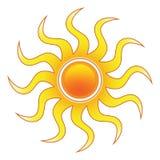 Stilisiert Sun lizenzfreie stockfotos