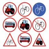 Stilisiert Verkehrszeichen Lizenzfreie Stockbilder
