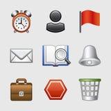 Stilisiert Web-Ikonen, Set 01 Lizenzfreies Stockbild