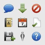 Stilisiert Web-Ikonen, Set 02 Lizenzfreies Stockbild