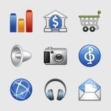 Stilisiert Web-Ikonen, Set 06 Lizenzfreies Stockbild