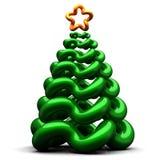 Stilisiert Weihnachtsbaum Stockfoto
