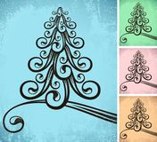 Stilisiert Weihnachtsbaum Stockfotografie