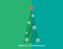 Stilisiert Weihnachtsbaum Lizenzfreies Stockbild