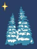 Stilisiert Weihnachtsbaum lizenzfreie abbildung