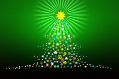 Stilisiert Weihnachtsbaum-Auslegung Illustartion Stockbilder