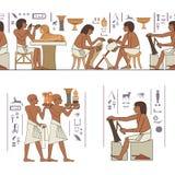 Stilisierte altes Ägypten-Fahne Lizenzfreies Stockfoto