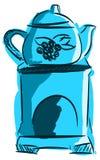 Stilisierte Brennerwesentliche in den blauen Tönen lokalisiert Lizenzfreie Stockfotos