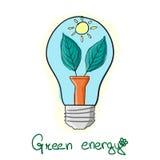 Stilisierte grüne Energieglühlampe Lizenzfreies Stockbild