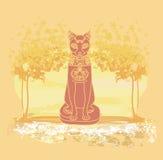 Stilisierte ägyptische Katze Lizenzfreie Stockfotografie