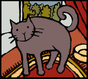 Stilisierte Katze Stockbild