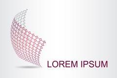 Stilisierte kugelförmige Oberfläche des Logos mit abstrakten Formen Lizenzfreies Stockfoto
