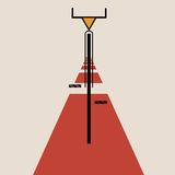 Stilisierte Kunst bicycle de Stijl Stockbild