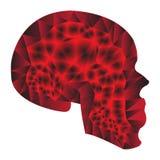 Stilisierte rote Steigung des Schädels Lizenzfreies Stockbild
