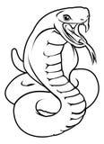 Stilisierte Schlangenillustration Lizenzfreie Stockfotos
