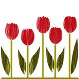 Stilisierte Tulpen Lizenzfreie Abbildung