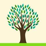 Stilisierter abstrakter Baum Stockbild