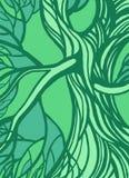 Stilisierter abstrakter grüner Baum Lizenzfreie Stockfotos