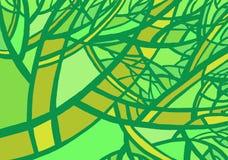 Stilisierter abstrakter grüner Baum Lizenzfreies Stockbild