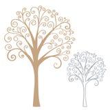 Stilisierter Baum der Zusammenfassung vektor abbildung