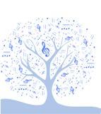 Stilisierter Baum mit Anmerkungen Stockbilder