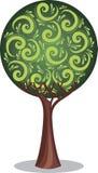 Stilisierter Baum mit Blattweinlese Stockbilder