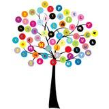 Stilisierter Baum mit Buchstaben des Alphabetes Lizenzfreie Stockfotografie
